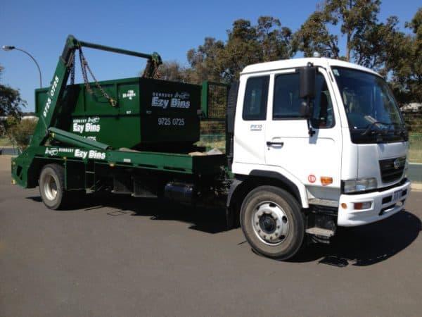 8m3 Skip Bin on Truck